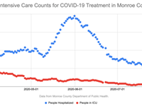 Monroe County COVID-19 ICU cases back in double digits