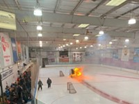 Flaming Zamboni is 2020 in a nutshell, rink manager says