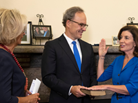 Hochul becomes NY's first female governor