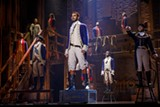 "PHOTO COURTESY JOAN MARCUS - The company of ""Hamilton,"" presented by RBTL through May 12."