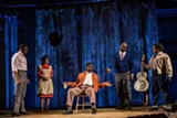 "PHOTO BY GOAT FACTORY MEDIA ENTERTAINMENT - Antoine L. Smith, Alexis Sims, Cleavant Derricks, Tyrone L. Robinson, and Badia Farha in Geva's world premiere of ""Revival: The Resurrection of Son House."""