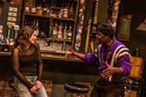 "PHOTO COURTESY GOAT FACTORY MEDIA ENTERTAINMENT - Kate Armstrong as Lena and Laron Dewberry as Nash in Blackfriars Theatre's ""The Undeniable Sound of Right Now."""