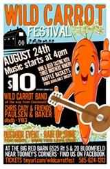 Wild Carrot Festival poster - Uploaded by Sarah Hudson Williams