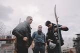 "PHOTO COURTESY TIFF - Forrest Goodluck, Michael Greyeyes, and Kiowa Gordonin ""Blood Quantum."""
