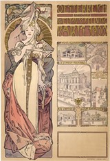 """PHOTO PROVIDED - Alphonse Mucha's color lithograph, """"Paris 1900, Austria at the World's Fair,"""" is part of an extensive exhibition exploring the artist's life and work, currently on view at Memorial Art Gallery."""