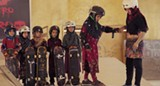 """PHOTO COURTESY SHORTSTV - A still from """"Learning to Skateboard in a Warzone (If You're a Girl)."""""""