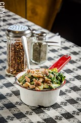 PHOTO BY MARK CHAMBERLIN - Greens and beans.