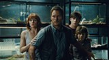 "PHOTO COURTESY UNIVERSAL PICTURES - Bryce Dallas Howard, Chris Pratt, Nick Robinson, and Ty - Simpkins in ""Jurassic World."""