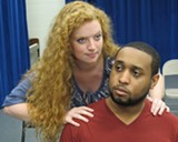 "PHOTO COURTESY MADHAUS - Kristy Barr as Lula and Austin Scott as Clay in Amiri Baraka's ""Dutchman,"" which will be perfomed this week as part of ""From Before: Two Black One Acts."""