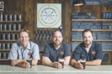 PHOTO BY MARK CHAMBERLIN - Carl Langsenkamp, Dave Finger and Dan Western of Lost Borough Brewing Co.