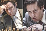 "PHOTO COURTESY BLEECKER STREET MEDIA - Liev Schreiber and Tobey - Maguire in ""Pawn Sacrifice."""