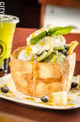 PHOTO BY MARK CHAMBERLIN - Bubble Fusion, a new restaurant in the East End, focuses on desserts such as the honey toast.