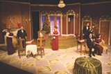 """PHOTO BY DAN HOWELL - The cast of """"The Game's Afoot"""" on stage at Blackfriars Theatre. The show will continue through Sunday, - January 3."""