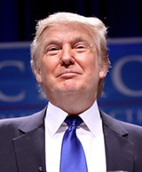 PHOTO BY GAGE SKIDMOR - Republican presidential candidate Donald Trump.