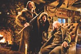 "PHOTO COURTESY THE WEINSTEIN COMPANY - Kurt Russell, Jennifer Jason Leigh, and Bruce Dern in - ""The Hateful Eight."""