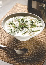 PHOTO BY MARK CHAMBERLIN - The babar, served at The Soup Spoon, is a Cambodian dish of rice porridge with various meats and spices.