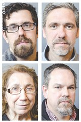 PHOTOS BY MARK CHAMBERLIN - From top left; Ryan Acuff, James Murphy, Sister Grace Miller and Kelly Finnigan.