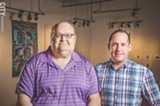 PHOTO BY MARK CHAMBERLIN - Host Brian Hurlburt (left) and co-host Michael Lill (right) can be heard on Rainbow ROC.