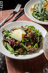PHOTO BY MARK CHAMBERLIN - Brown Hound Bistro has opened a new location in the Memorial Art Gallery. The restaurant focuses on local and seasonal ingredients for its menu items, like the bistro and Caesar salads.