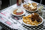 PHOTO BY MARK CHAMBERLIN - Two eggs cooked the way you like 'em are set atop a bed of crispy home fries.