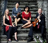 PHOTO BY JUDY LASHER PHOTOGRAPHY - The Amenda Quartet is (from left to right) Melissa Matson, Patrica Sunwoo, Mimi Hwang, and David Brickman.