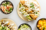 PHOTO BY MARK CHAMBERLIN - Inspired by the quick service taquerias he found in San Francisco, Dave Jackson recently opened Bay Vista Taqueria on Bay Road. The menu servies a variety of tacos - like the Baja fish and beef tacos seen here - as well as burritos, quesadillas, and salads.