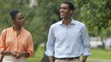 """PHOTO COURTESY ROADSIDE ATTRACTIONS - Tika Sumpter - and Parker Sawyers as Michelle Robinson and Barack Obama in """"Southside with - You."""""""