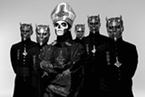 PHOTO PROVIDED - Ghost's Papa Emeritus and the Nameless Ghouls do the devil's work.