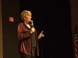 "PHOTO BY ASHLEIGH DESKINS - Alison Arngrim performed her show ""Confessions of a Prairie B;+@h"" at the Fringe on Friday."