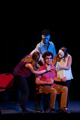 "PHOTO BY JOSH SAUNDERS - ""Murder Night"" was performed Saturday night as part of the Fringe Festival."
