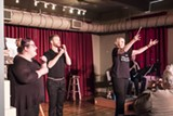 """PHOTO BY ASHLEIGH DESKINS - """"The Oboe Show"""" was performed at Writers & Books on the final day of the Fringe"""