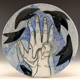 PHOTO PROVIDED - A plate by Ohio-based artist Jenny Mendes, who is one of the featured artists in the 2016 Flower City Pottery Invitational.
