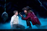 "PHOTO BY CAROL ROSEGG - Kevin Kern as J.M. Barrie and Tom Hewitt as Captain Hook in the national tour of ""Finding Neverland,"" now on stage at the Auditorium Theatre"