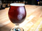 PHOTO BY KEVIN FULLER - Three Heads Brewing has its Hippy Holidays Red Lager, along with its Baltic Porter, on tap at its Atlantic Avenue location, and it's available in bottles.