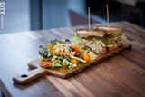 PHOTO  BY KEVIN FULLER - Branca Midtown, the sister restaurant to Branca Basin, recently opened downtown with an aim at the business crowd. Along with a dinner menu, - the restaurant features an Italian coffee bar and quick salad and sandwich options.