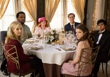 "PHOTO COURTESY FOX SEARCHLIGHT - Lisa Kudrow, Craig Robinson, - June Squibb, Tony Revolori, and Anna Kendrick are the - guests at ""Table 19."""