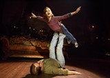 """PHOTO BY JOAN MARCUS - Alessandra Baldacchino as Small Alison and Robert Petkoff as Bruce in """"Fun Home."""""""