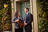 """PHOTO PROVIDED - Society for Chamber Music in Rochester Artistic Directors Juliana Athayde and Erik Behr. (Behr did not perform in Sunday's performance of """"Back to the Future."""")"""