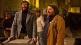 "PHOTO COURTESY KERRY BROWN/STUDIO CANAL - Director Ben Wheatley (right) and Armie - Hammer on the set of ""Free Fire."""