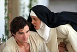 "PHOTO COURTESY GUNPOWDER & SKY - Aubrey Plaza gives Dave Franco a piece of her mind in ""The Little Hours."""