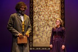 "PHOTO BY GOAT FACTORY MEDIA ENTERTAINMENT - Cedric Mays as Frederick Douglass and Madeleine Lambert as Susan B. Anthony in ""The Agitators,"" on stage at Geva Theatre Center."