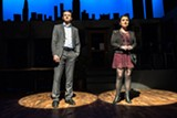 """PHOTO BY STEVE LEVINSON - Eric Schutt and Abby Rice star in """"First Date: The Broadway Musical Comedy"""" at JCC CenterStage."""