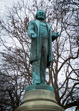 PHOTO BY RYAN WILLIAMSON - The statue of Frederick Douglass will be moved in 2018 from the bowl area of Highland Park closer to South Avenue.