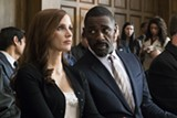 "PHOTO COURTESY STX ENTERTAINMENT - Jessica Chastain and Idris Elba in ""Molly's Game."""