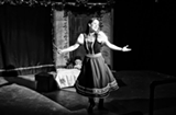 """PHOTO PROVIDED - Tina Hoffman as Oksana in Kingfisher Theater's """"The Devil, The Witch, and The Blacksmith."""""""