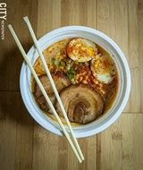 PHOTO BY RYAN WILLIAMSON - Brooklyn Ramen's Spicy Miso Tonkotsu.