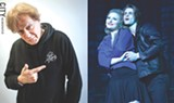 "LEFT PHOTO BY RYAN WILLIAMSON; RIGHT PHOTO PROVIDED - Left: Veteran rocker Eddie Money created the Broadway-style musical ""Two Tickets to Paradise,"" based on his life. Right: Alec Nevin portrays Money and Morgan Troia plays Money's wife, Laurie, in the show."