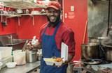 "PHOTO BY JACOB WALSH - Bobo's Chicken Shack owner Devon ""Bobo"" Crittenden."