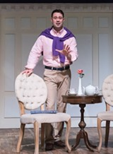 "PHOTO BY LOU SCHNEIDER - Jake Purcell as Alex More in ""Buyer & Cellar"" at JCC CenterStage."