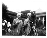 FILE PHOTO - George Eastman with Thomas Edison in Eastman's garden. - Eastman's Kodak Company democratized photography.